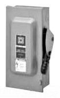 Square D HU364 200A 600V 3P NM1 HDNF SFTY SW
