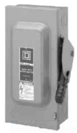 Square D HU363EI 3P 600V 100A SAFETY SW