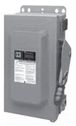 Square D HU361AC 30A-600V-3P SFTY SW