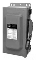 Square D H361A 30A 600V 3P NM12K HD SFTY SW