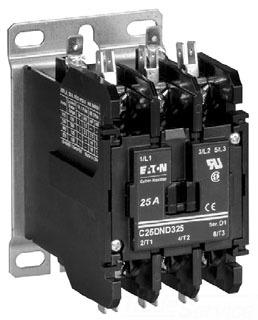 Cutler Hammer C25DNJ2501W 2P 50A DP CNCTR