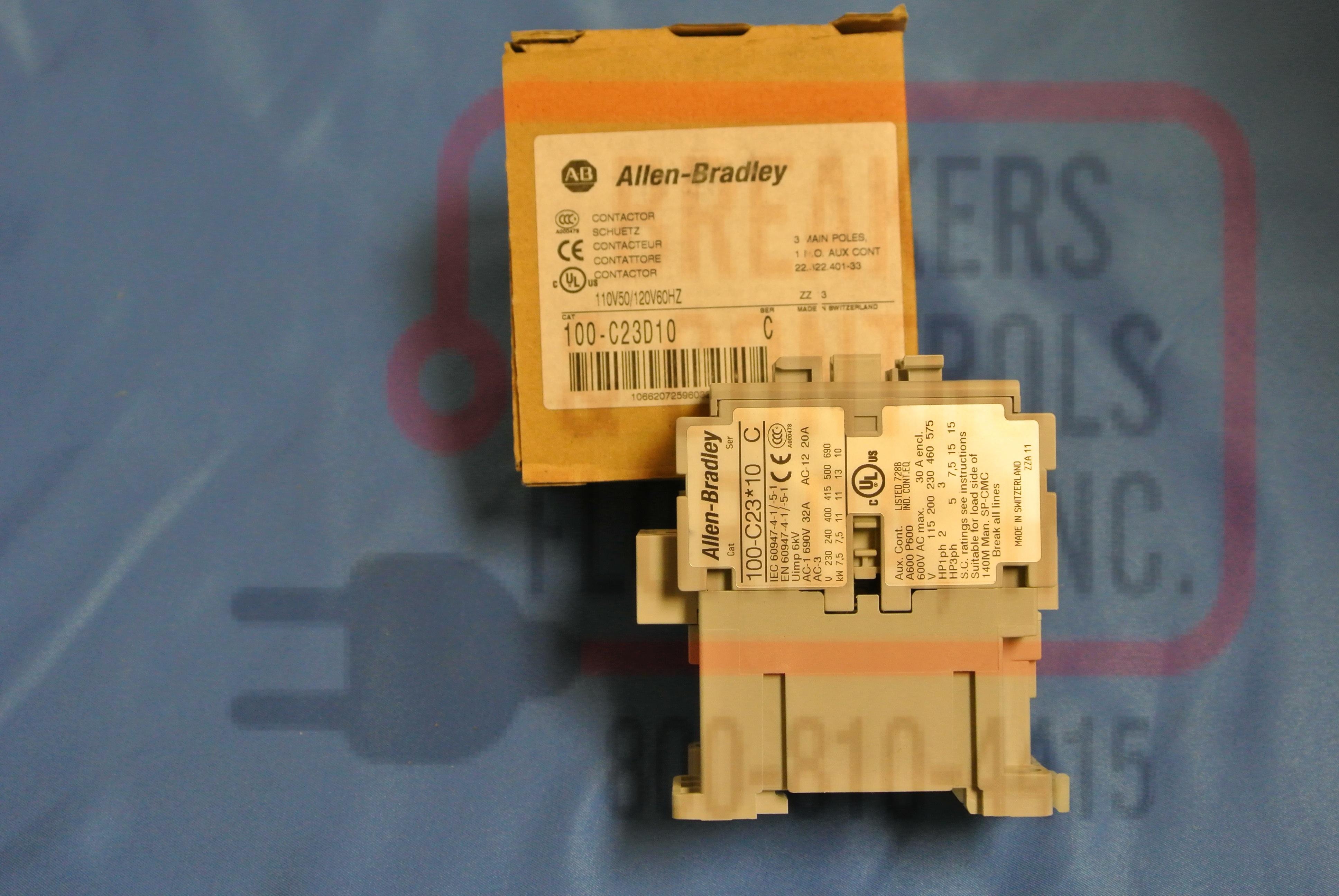 Allen Bradley 100-c23d10 Motor Control Contactor