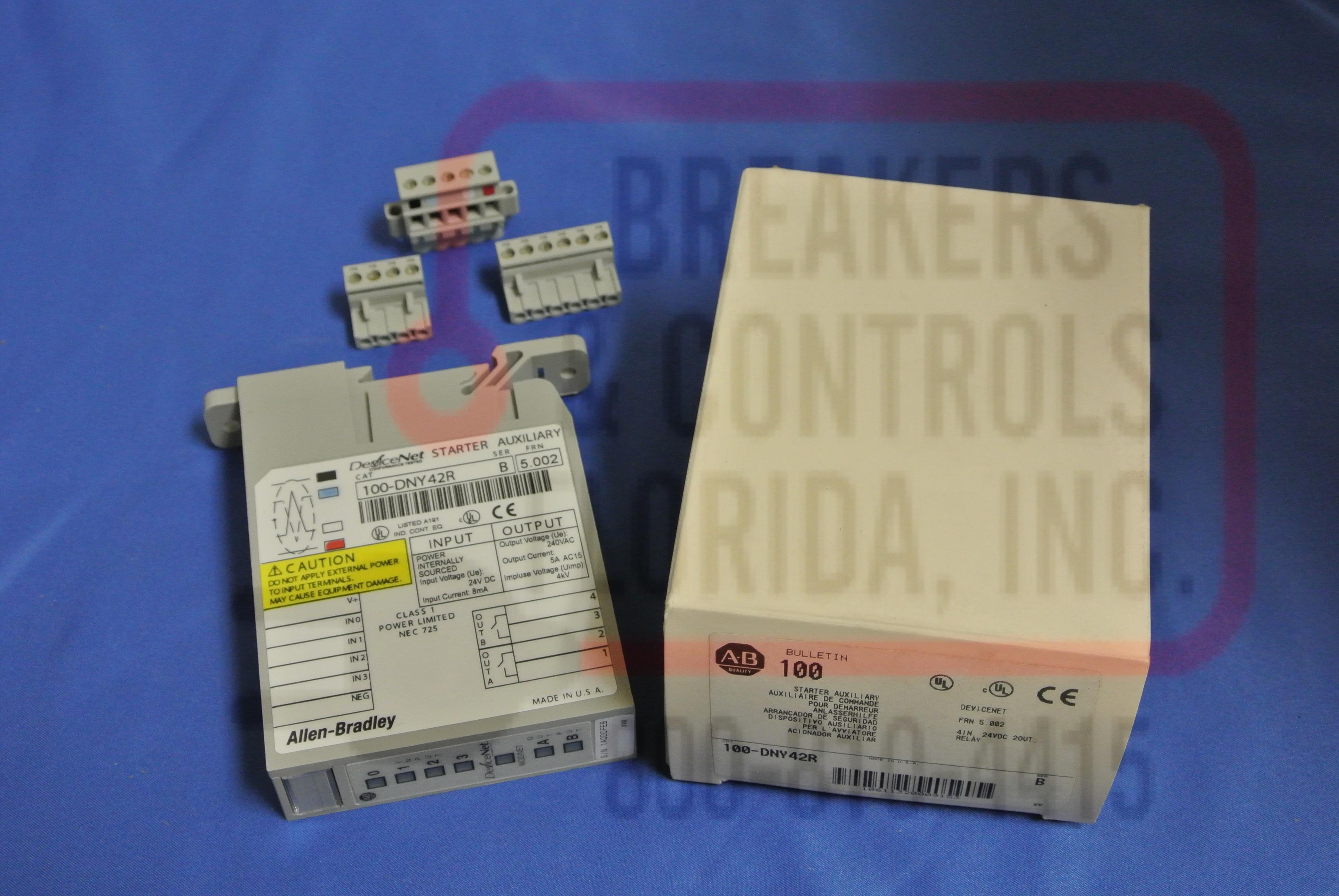 Allen Bradley 100DNY42R1 RELAY 4IN 24VDC 2OUT 250V DISTRIBUTED STARTER DSA