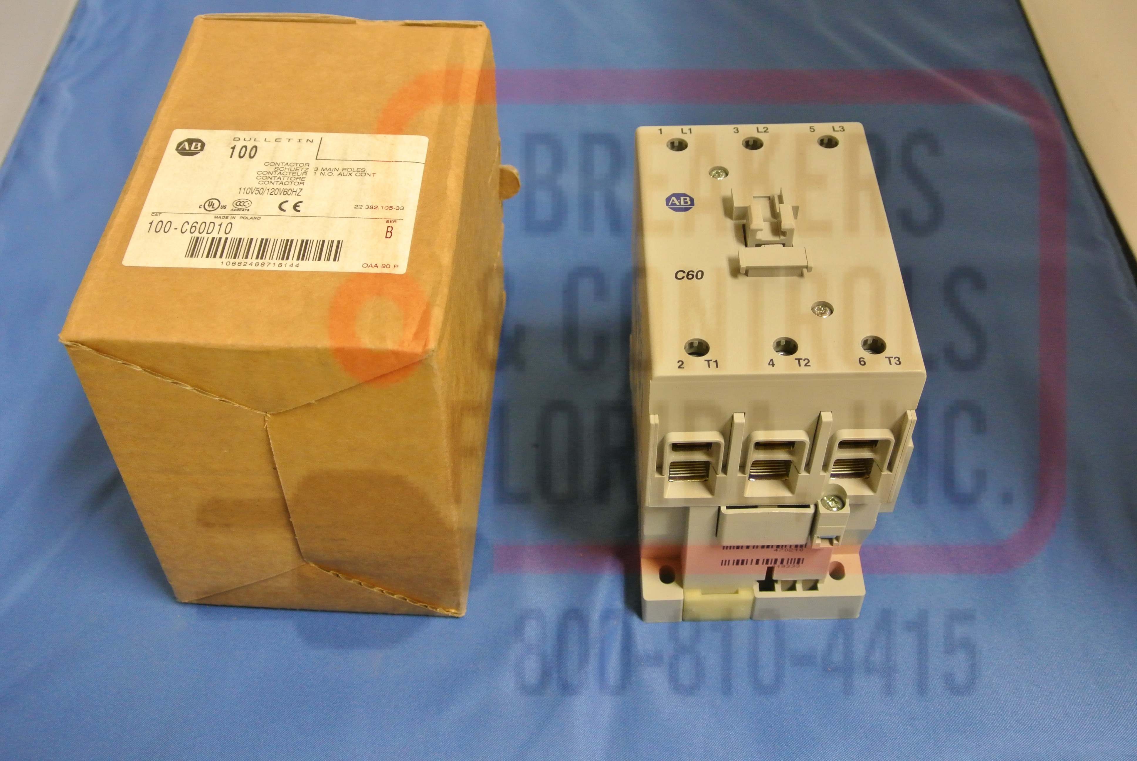 Allen Bradley 100-C60D10 MCS-C CONTACTOR, IEC,60A, 110V 50HZ / 120V 60HZ