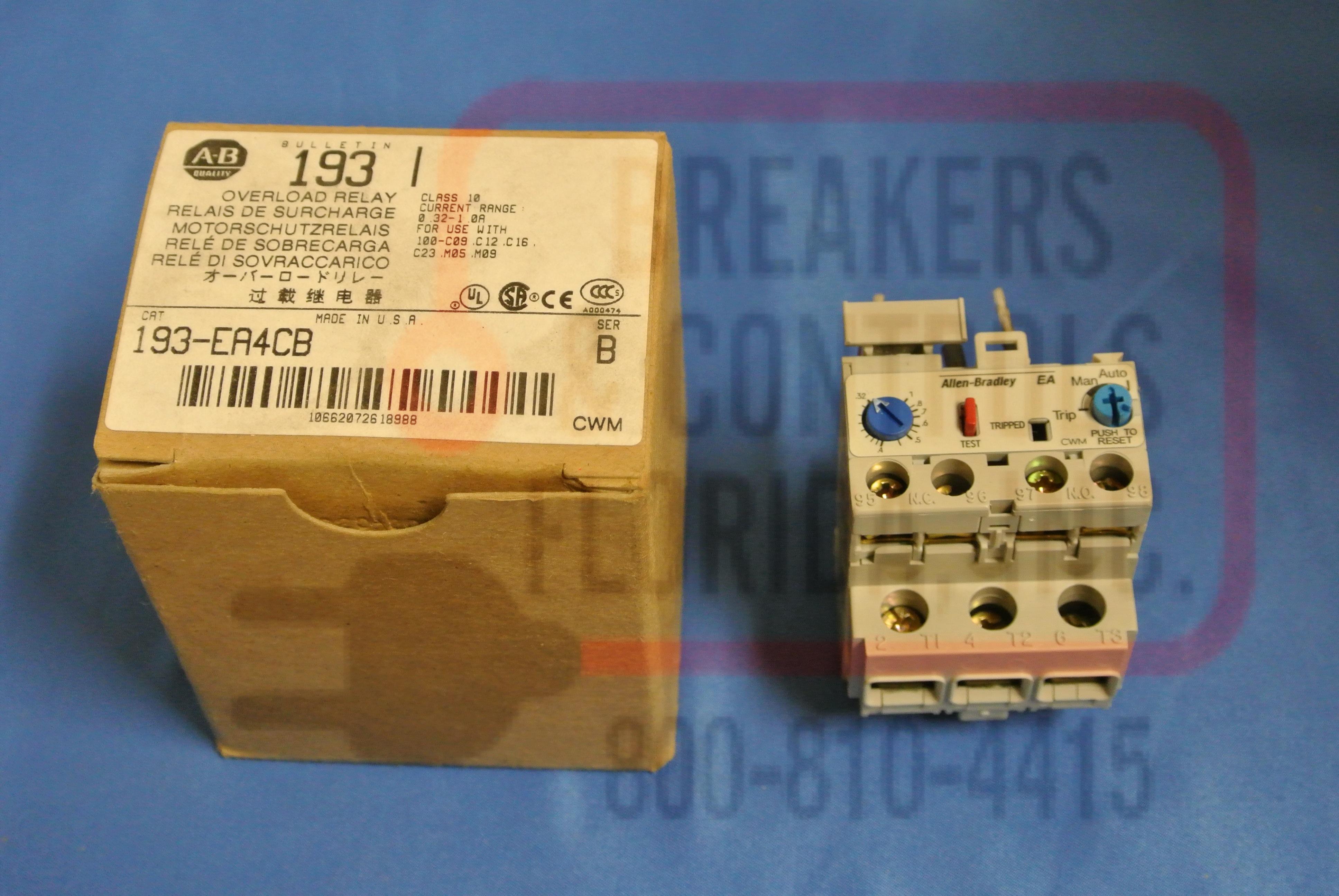Allen Bradley 193-EA4CB Motor Control